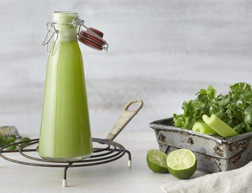 Vihervoimainen vesikrassi-salaattimehu