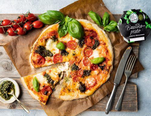 Basilikapesto-pizza